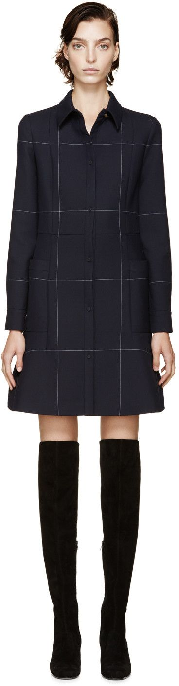 Calvin Klein Collection Navy Delo Dress