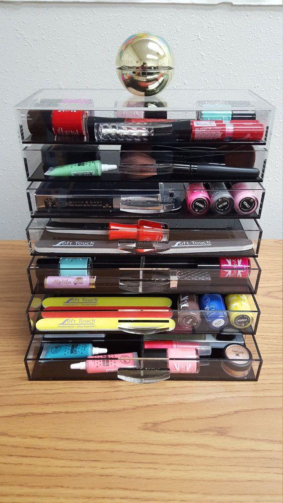 GlamoureBox Clear Acrylic Makeup Organizer by TheGlamoureBox
