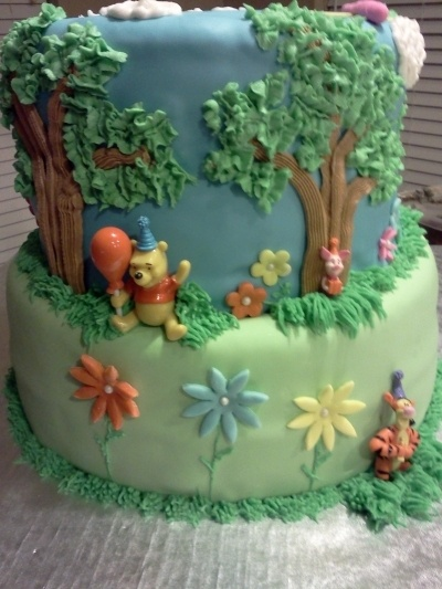 Winnie the Pooh Birthday Cake  By PatSims on CakeCentral.com