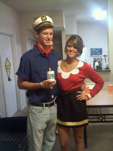 work appropriate costumes popeye and olive - Halloween At Work Ideas