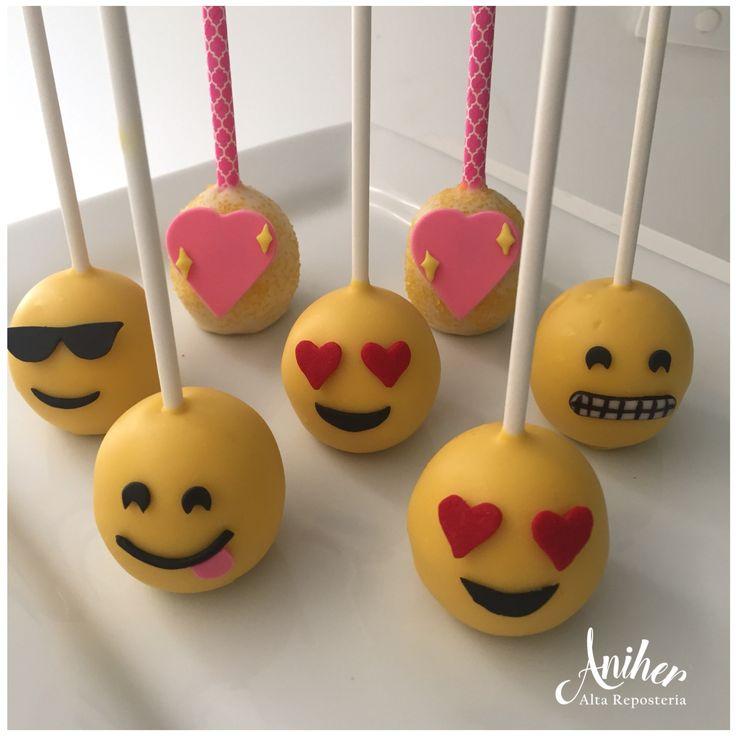 Emoji cake pop