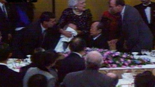 """After President Bush Sr. vomited on the Japanese Prime Minister, a new word entered the Japanese language. Bushusuru means """"to do the Bush thing,"""" or to publicly vomit"""