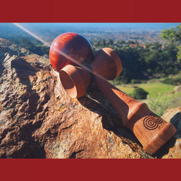 My kaizen cherry wood wine kendama up on eagle rock, San Jose CA