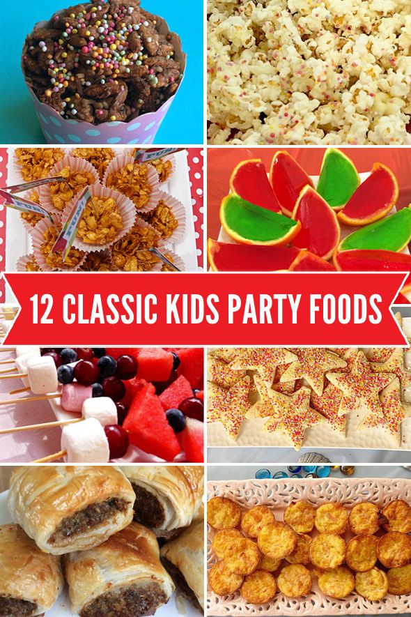 12 fabulous classic party foods that are cheap and simple to make and a hit with the kids!