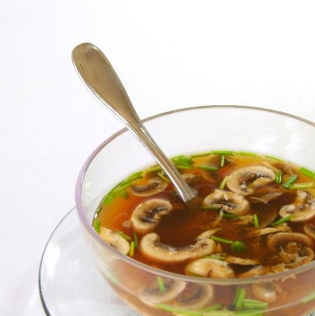 Asian style mushroom soup