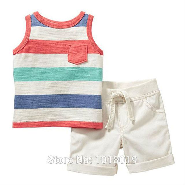 Baby Boys Clothing Set Summer 2pcs Children Suits Short Sleeve Baby Boy Clothes Set Kids Boys