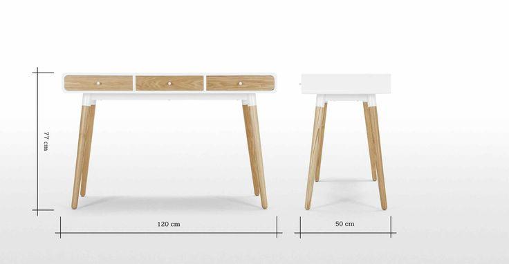 Edelweiss Desk, Ash and White | made.com
