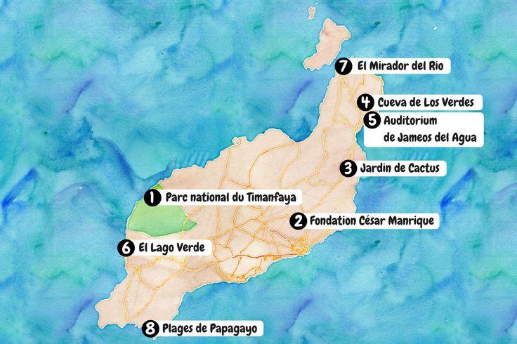 Voici quels sont pour nous les 8 sites à ne pas manquer sur l'île de Lanzarote ! #Lanzarote #Canaries #Espagne