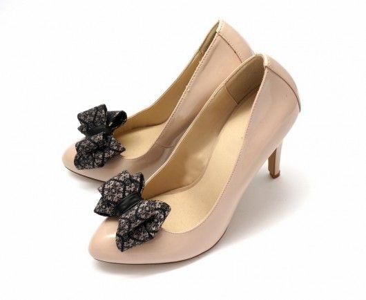 3D elegant bows shoe clips