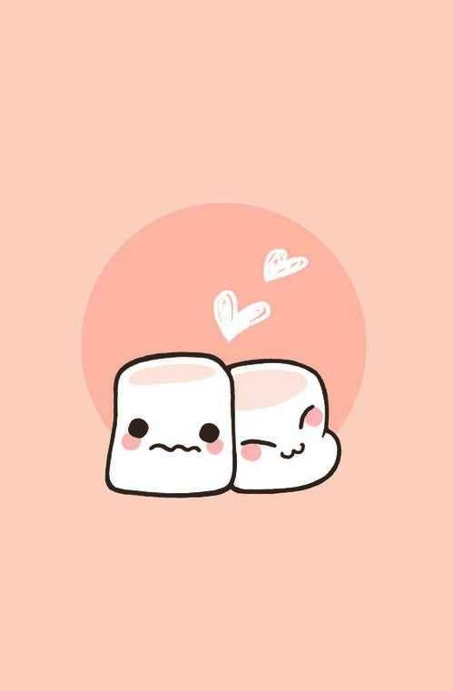 Kawaii I Love Marshmallow Wallpaper.