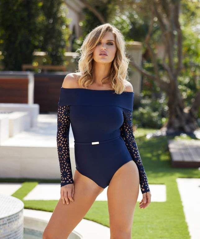 9e17aaededa31 Luxe by Lisa Vogel Aphrodite Long Sleeve One Piece  Vogel Lisa Luxe ...