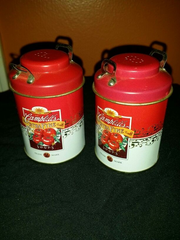 Campbells Soup Salt And Pepper Shakers