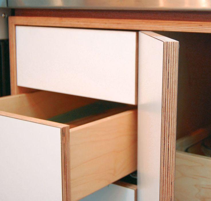 White laminate birch ply vanity google search vanity for Birch veneer kitchen cabinets
