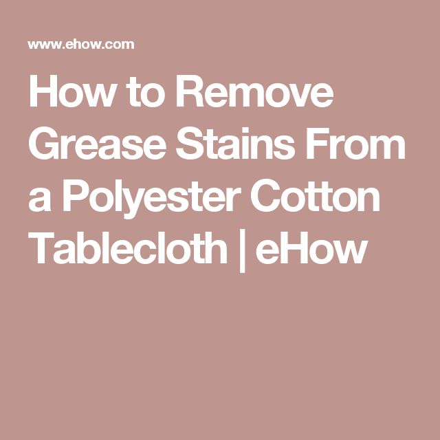 how to remove set in stains from polyester