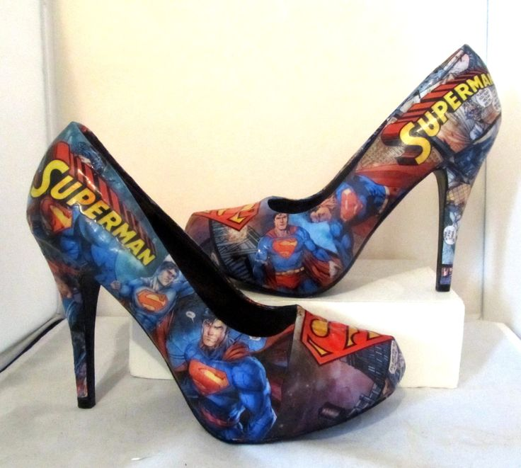 Superman Heels  Made to Order by custombykylee on Etsy, $70.00