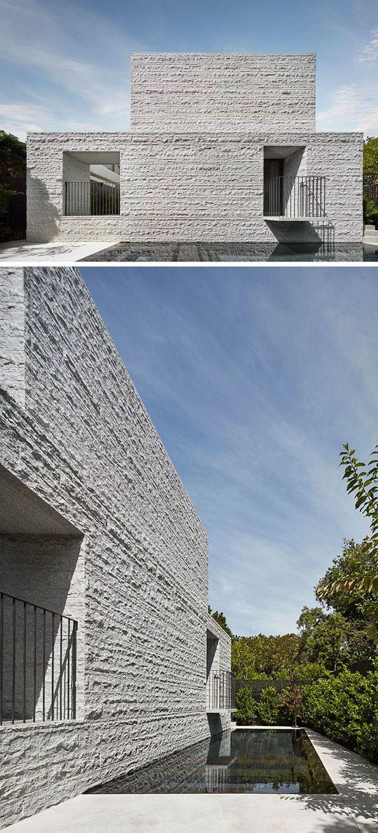 Granitplatten f r fassade und im innenbereich ein for Minimalistisches haus