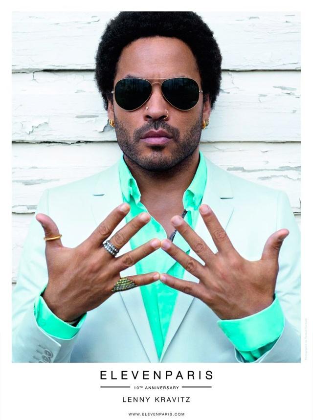 Lenny Kravitz, his hands...