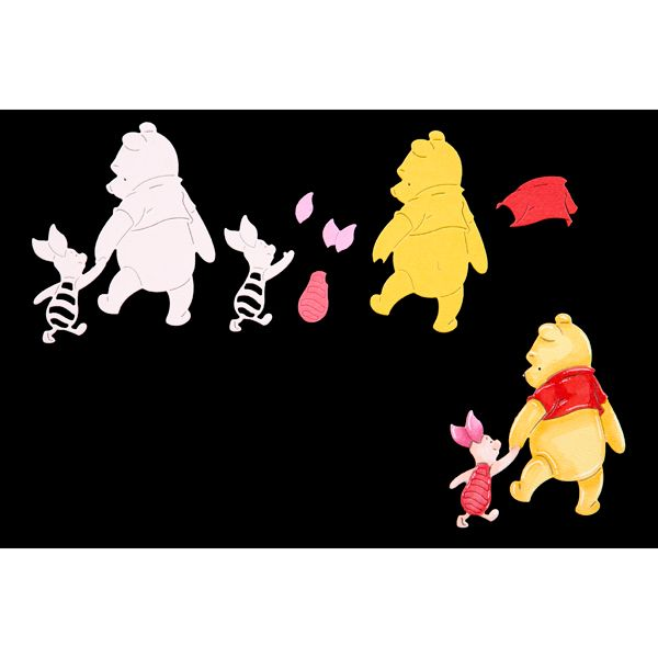 Disney Winnie The Pooh Pooh and Piglet Die (389782) | Create and Craft