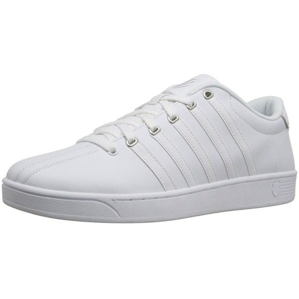 K-Swiss Men's Court Pro II Fashion Sneaker (2.195 RUB) ❤ liked on Polyvore featuring men's fashion, men's shoes, men's sneakers, mens white tennis shoes, k swiss mens sneakers, mens wide fit shoes, mens wide width sneakers and mens shoes