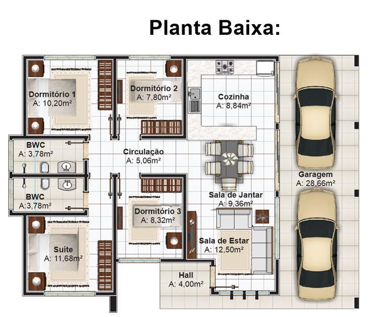 403 - Plantas de casas - humanizada - planta baixa