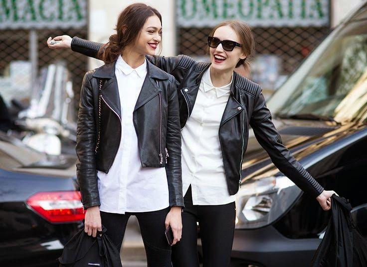 basics - black moto jacket