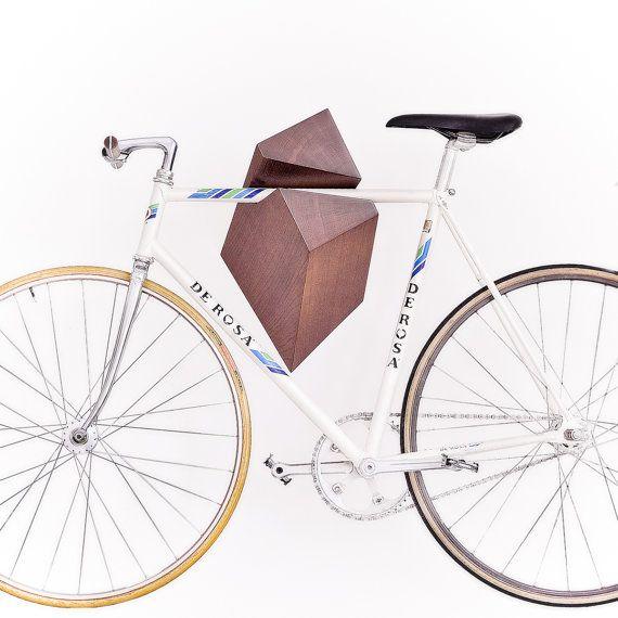 For the City Modern Biker-Oak Wood Bike Hanger by Woodstick Ltd by Woodstick