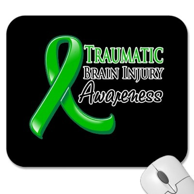 Traumatic Brain Injury Awareness Ribbon