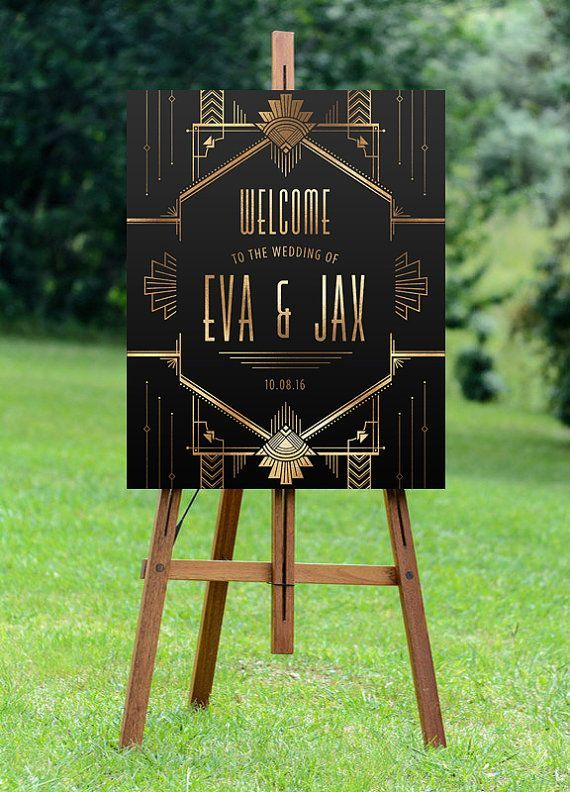 PRINTABLE Large Custom Welcome Sign // Wedding by Foxbairn on Etsy