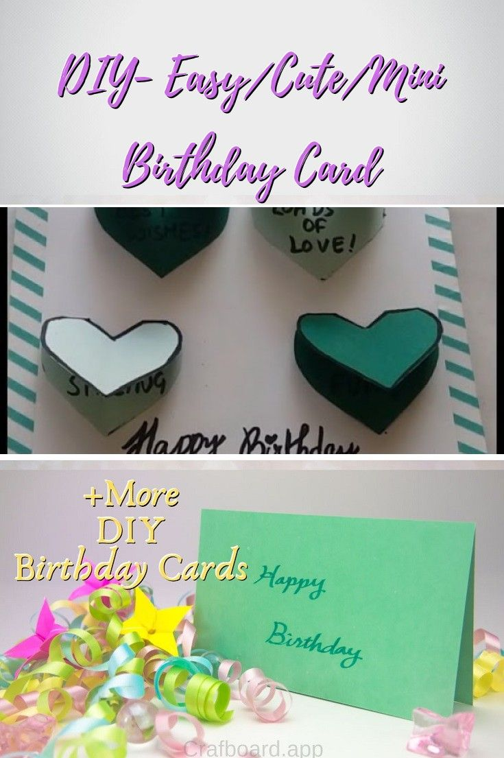 22 Easy Unique And Fun Diy Birthday Cards To Show Them Your Love Birthday Cards Diy Easy Birthday Cards Diy Birthday Cards For Boyfriend