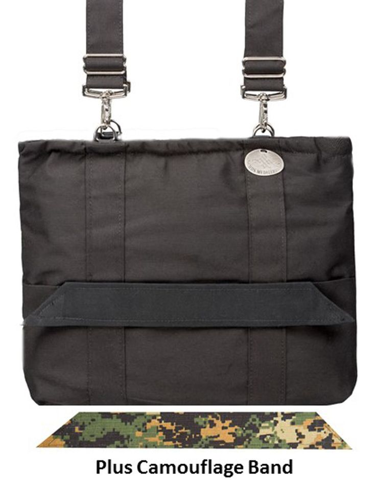 Black Universal Expression Bag With Camouflage Band