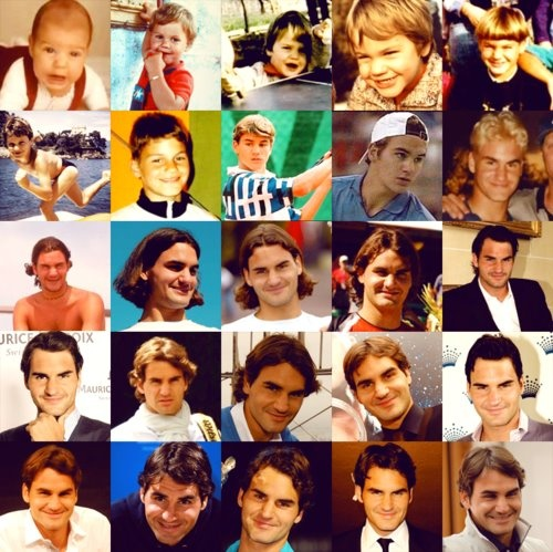 Roger Federer through the years