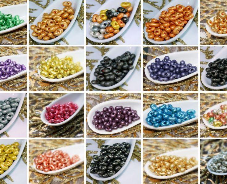20g Metallic Farfalle Seed Beads Czech Seed Beads PRECIOSA Farfalle Peanut Beads Czech Glass Seed Beads Spacer 6mm