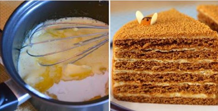 Медовик по-новому. Ингредиенты - как на обычный торт, но есть одна хитрость...