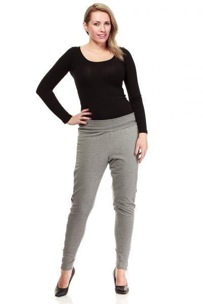 Szare spodnie plus size