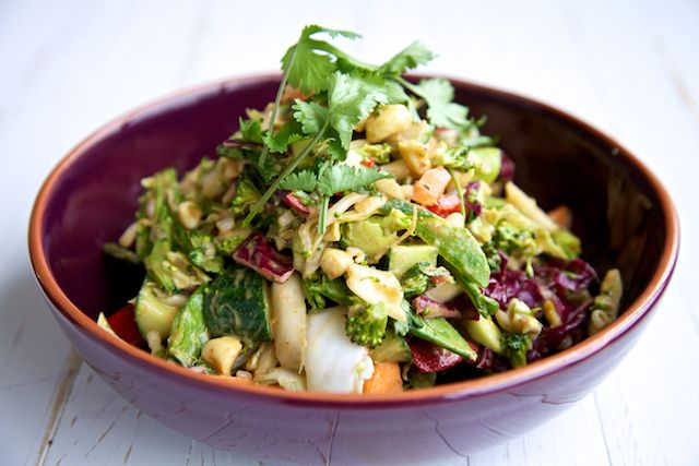 Asian Chopped Salad raw food recipe