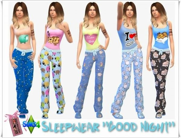 "Annett`s Sims 4 Welt: Slepwear ""Good Night"" • Sims 4 Downloads"