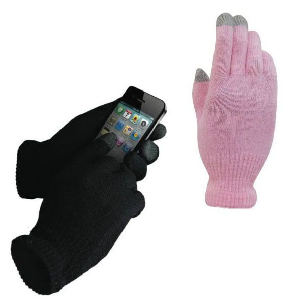 New 1Pair Women/Men Unisex Winter Warm Knitted Gloves Capacitive Touchable Screen for Iphone Smartphone Glove #Affiliate