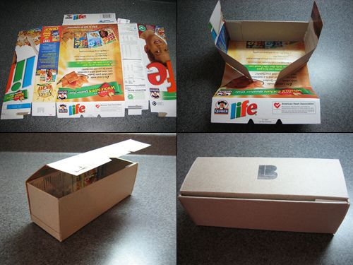 Gift Box from Cereal Box by b_light, via Flickr