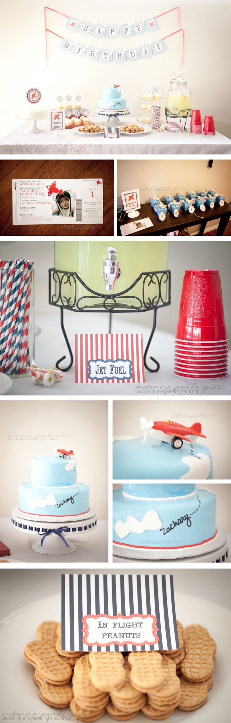 Airplane themed  birthday party >>