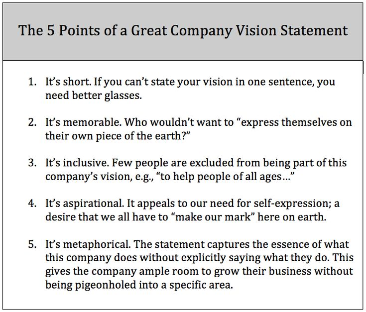 Best Vision Staements Images On   Vision Statement