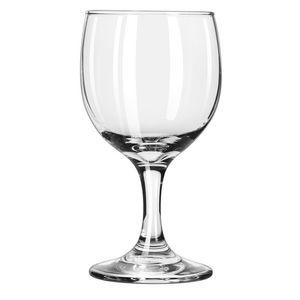 8 oz Wine Glass. No need to wash glasses for your special event.  We do the work for you at a great price!  We also offer delivery and pickup for an additional fee depending on the delivery location in the Niagara Region .  Please inquire.