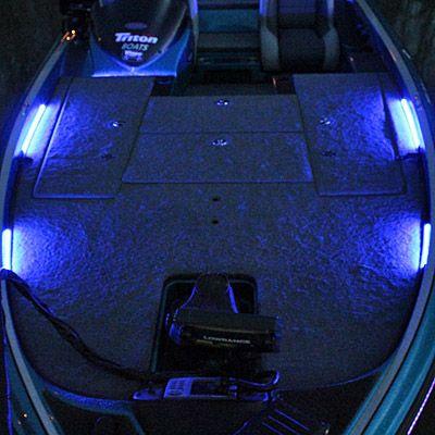 Deck LED Lighting / Front Deck for Boat LED  Deck Lighting Kits by Blue Water LED