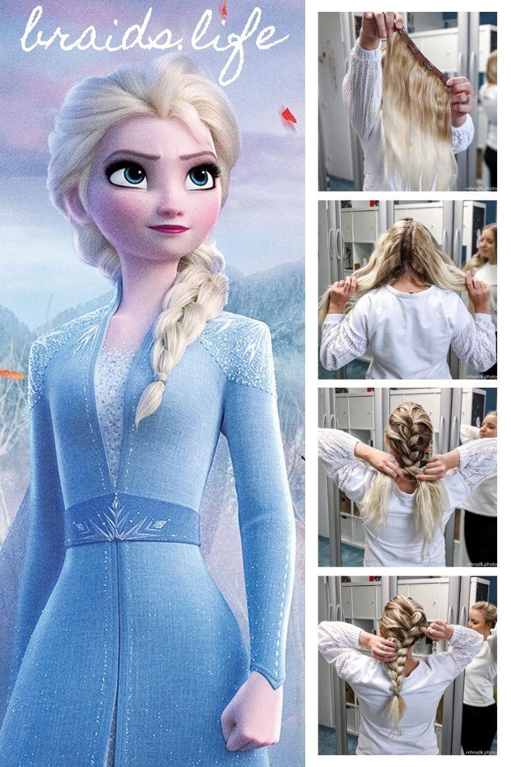 10 Schritte Frisuren Anleitung Der Originale Elsa Zopf Aus Die Eiskonigin 2 Braids Life In 2020 Mittellange Haare Frisuren Flechten Disney Frisuren Frisuren