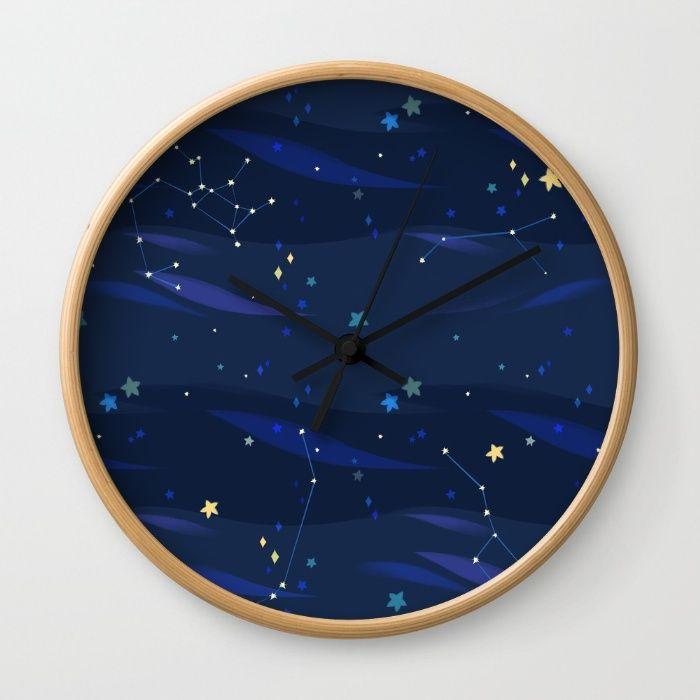 Blue Universe Wall Clock