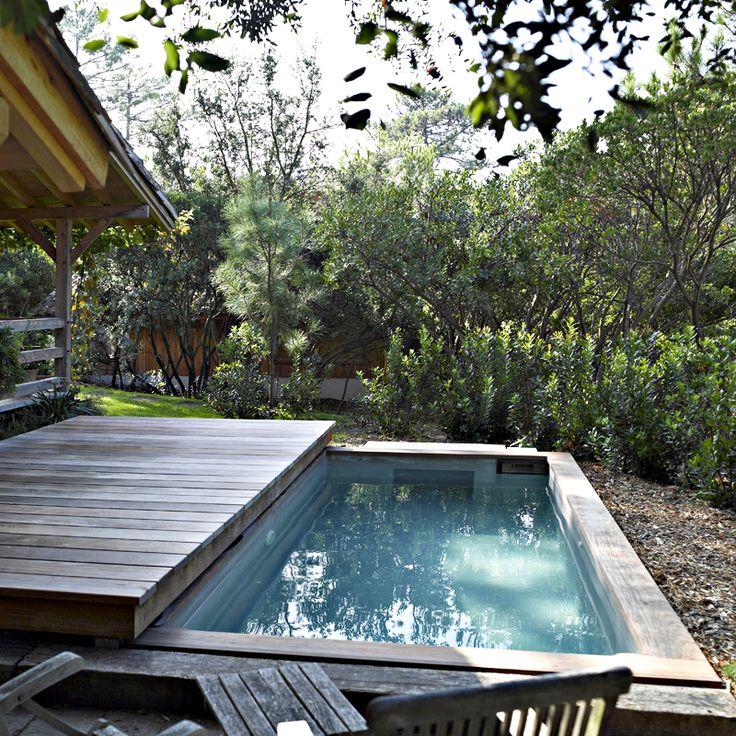 Mini-piscines : 20 modèles maxi-plaisir pour petits jardins et petits budgets : Piscine réalisée sur mesure à Artigues-près-Bordeaux (33) - Carré Bleu - Déco - Plurielles.fr