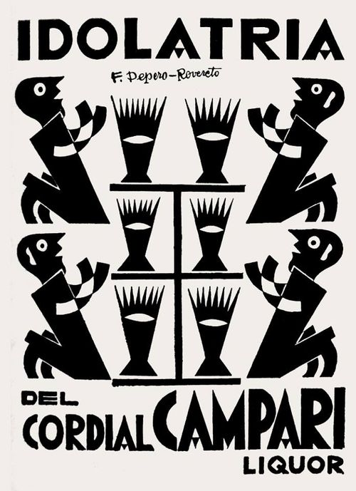 Fortunato Depero, artwork for Campari advertising, 1927. Italy.