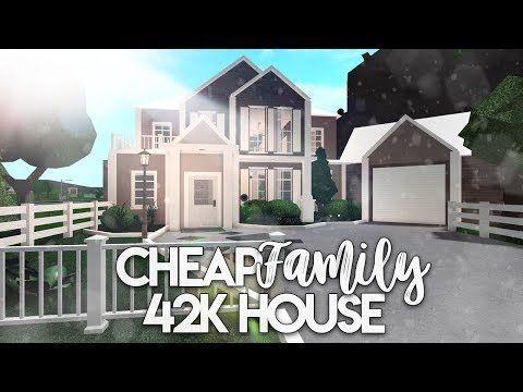 Roblox Bloxburg Cheap Family House House Build Youtube