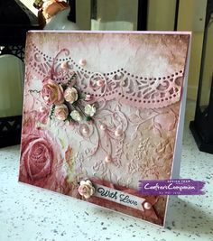 6x6 With Love made using Sara Signature Shabby Chic collection – Designed by Mel Jess. #crafterscompanion