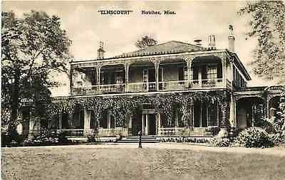 "Natchez Mississippi MS 1920 ""Elmscourt"" Antebellum Home Antique Vintage Postcard"