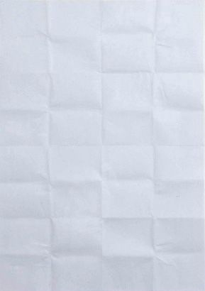 "Martin Creed (b. 1968) ""Work No. 384: A sheet of paper folded up and unfolded"", 2004. Paper. #grid"
